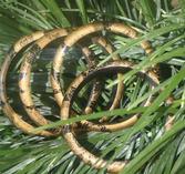 Armband med guld/brunt mönster