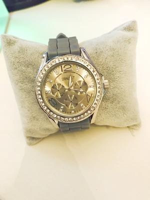 Bling klocka med grått armband