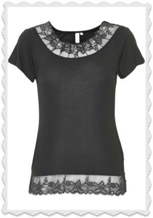 Florence t shirt Pitch black från Cream Storlek S