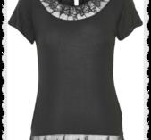 Florence t shirt Pitch black från Cream Storlek S