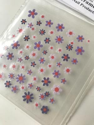 Lila blom stickers