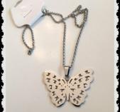 Fjärils halsband i stål