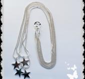 hb164 Långt halsband med stjärnor