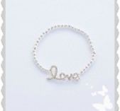 a718 Armband `Love`med bling
