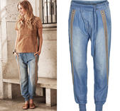 Liv Pants Soft blue denim Cream 44