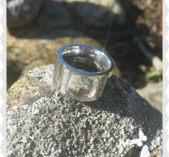 r79 Stål ring med söt sten S