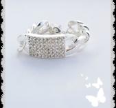 Armband i silver och bling