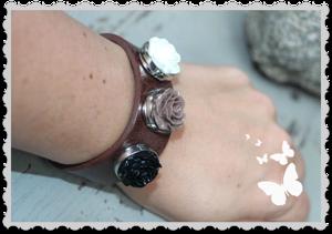 Ett färdigt Mixxa Armband i brunt