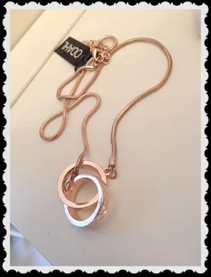 hb716 Vackert halsband med roseguld